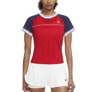 Camisetas y Polos de Tenis Mujer Nike Court DriFIT Slam Camiseta  University Red/Binary Blue DC9462657
