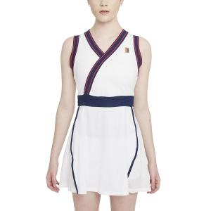 Vestito da Tennis Nike Court DriFIT Slam Vestito  White/Binary Blue DA4716100