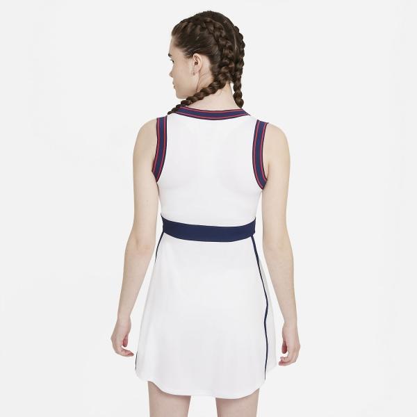 Nike Court Dri-FIT Slam Dress - White/Binary Blue