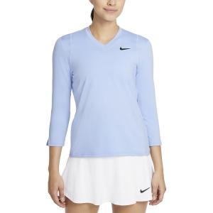 Maglie e Felpe Tennis Donna Nike Court DriFIT UV Victory Maglia  Aluminum/Black DA4730468