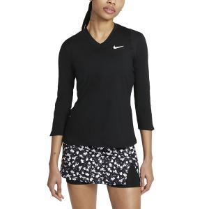 Maglie e Felpe Tennis Donna Nike Court DriFIT UV Victory Maglia  Black/White DA4730010