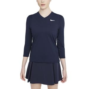 Maglie e Felpe Tennis Donna Nike Court DriFIT UV Victory Maglia  Obsidian/White DA4730451