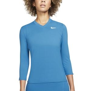 Camisetas y Sudaderas Mujer Nike Court DriFIT UV Victory Camisa  Brigade Blue/White DA4730453