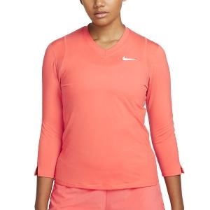 Camisetas y Sudaderas Mujer Nike Court DriFIT UV Victory Camisa  Magic Ember/White DA4730814
