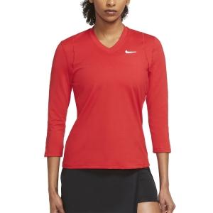 Maglie e Felpe Tennis Donna Nike Court DriFIT UV Victory Maglia  University Red/White DA4730657