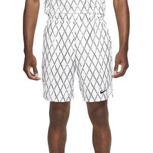 Pantaloncini Tennis Uomo Nike Court DriFIT Victory 9in Pantaloncini  White/Black DA4372100