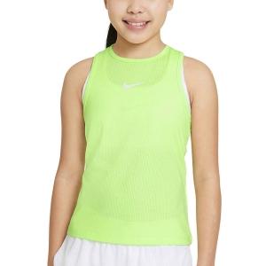Top and Shirts Girl Nike Court DriFIT Victory Tank Girl  Lime Glow/White CV7573345