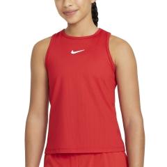 Nike Court Dri-FIT Victory Tank Girl - University Red/White