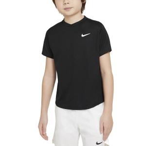 Tennis Polo and Shirts Nike Court DriFIT Victory TShirt Boy  Black/White CV7565010
