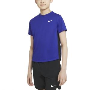 Tennis Polo and Shirts Nike Court DriFIT Victory TShirt Boy  Concord/Black/White CV7565471