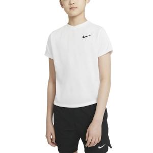 Tennis Polo and Shirts Nike Court DriFIT Victory TShirt Boy  White/Black CV7565100