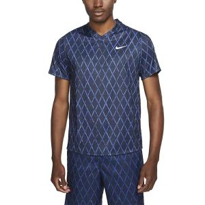 Maglietta Tennis Uomo Nike Court DriFIT Victory Print Maglietta  Obsidian/White DA4366451