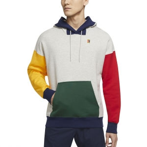 Men's Tennis Shirts and Hoodies Nike Court Hoodie  Grey Heather/George Green BV0760050