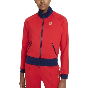 Giacche Tennis Donna Nike Court Heritage FullZip Giacca  University Red/Binary Blue CV4701657