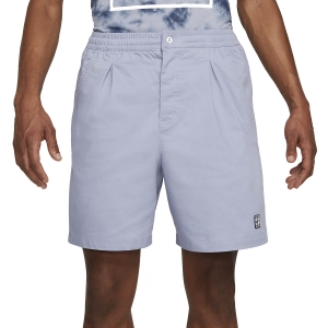 Men's Tennis Shorts Nike Court Heritage 8in Shorts  Indigo Haze CK9845519