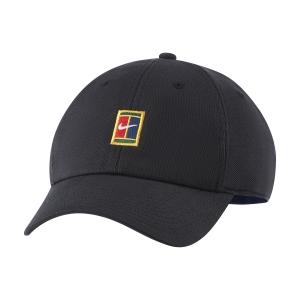 Tennis Hats and Visors Nike Court Heritage86 Cap  Black/Binary Blue DJ6147010