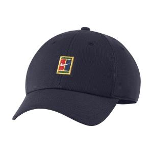 Tennis Hats and Visors Nike Court Heritage86 Cap  Obsidian DJ6147451