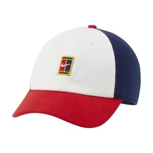 Tennis Hats and Visors Nike Court Heritage86 Cap  White/Binary Blue DJ6147100