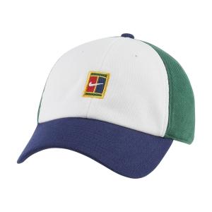 Tennis Hats and Visors Nike Court Heritage86 Cap  White/Binary Blue/Gorge Green DJ6147101