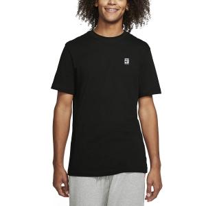 Men's Tennis Shirts Nike Court TShirt  Black/White BV5809011