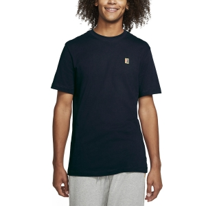 Men's Tennis Shirts Nike Court TShirt  Obsidian/White BV5809452