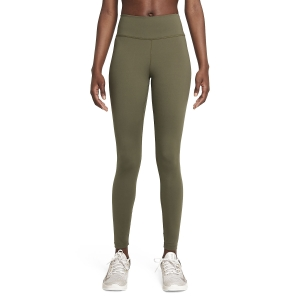 Women's Tennis Pants and Tights Nike One Tights  Medium Olive/Black DD0252222