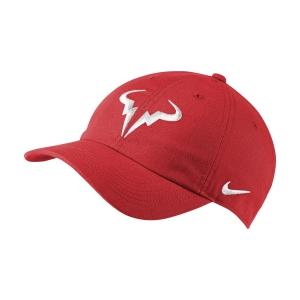Tennis Hats and Visors Nike Court Rafa Aerobill H86 Cap  Chile Red/White 850666673