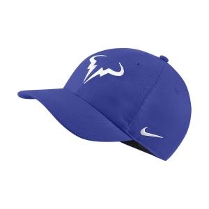 Tennis Hats and Visors Nike Court Rafa Aerobill H86 Cap  Hyper Royal/White 850666405