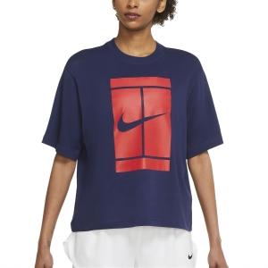Camisetas y Polos de Tenis Mujer Nike Court Seasonal Camiseta  Binary Blue DJ6241429