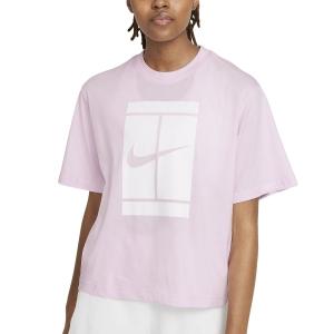 Women`s Tennis T-Shirts and Polos Nike Court Seasonal TShirt  Regal Pink DJ6241695