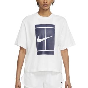 Women`s Tennis T-Shirts and Polos Nike Court Seasonal TShirt  White DJ6241100