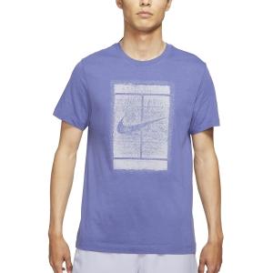 Maglietta Tennis Uomo Nike Court Seasonal Maglietta  Dark Purple/Dust Indigo/Haze DD2228510