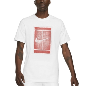 Camisetas de Tenis Hombre Nike Court Seasonal Camiseta  White/Martian Sunrise DD2228100