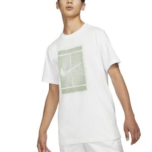 Maglietta Tennis Uomo Nike Court Seasonal Maglietta  White/Steam DD2228101