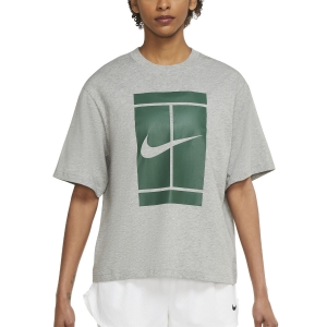 Camisetas y Polos de Tenis Mujer Nike Court Seasonal Camiseta  Dark Grey Heather DJ6241063