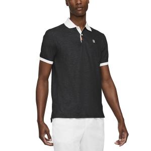 Polo Tennis Uomo Nike Court Slim Polo  Black/White CV7876010