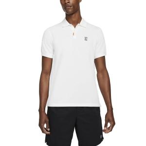 Polo Tennis Uomo Nike Court Slim Polo  White CV7876101