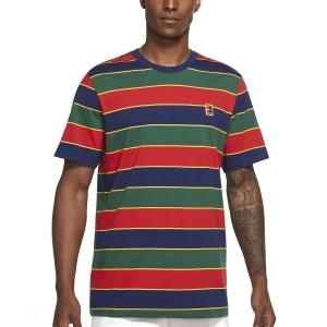 Men's Tennis Shirts Nike Court Stripe TShirt  Binary Blue DJ2592429
