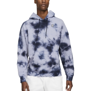 Men's Tennis Shirts and Hoodies Nike Court TieDye Hoodie  Indigo Haze/White DC9684510