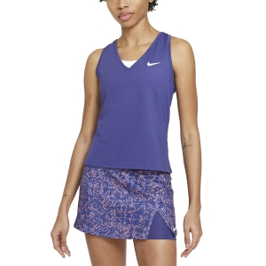 Canotte Tennis Donna Nike Court Victory Logo Canotta  Dark Purple Dust/White CV4784510