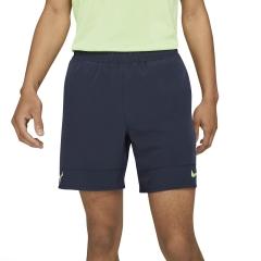 Nike Court Dri-FIT ADV Rafa 7in Shorts - Obsidian/Lime Glow