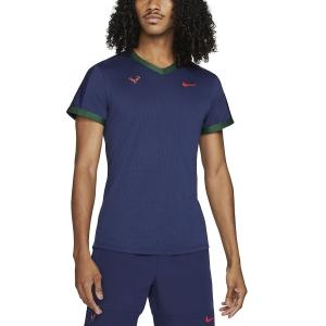 Camisetas de Tenis Hombre Nike DriFIT ADV Rafa Camiseta  Binary Blue/Gorge Green/Chile Red CV2802429