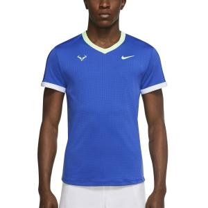 Maglietta Tennis Uomo Nike DriFIT ADV Rafa Maglietta  Hyper Royal/Lime Glow/White/Lime Glow CV2802405
