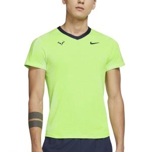 Men's Tennis Shirts Nike DriFIT ADV Rafa TShirt  Lime Glow/Obsidian CV2802345