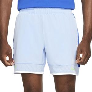 Pantaloncini Tennis Uomo Nike Court DriFIT ADV Rafa 7in Pantaloncini  Aluminum/Hyper Royal/White/Lime Glow CV7873468