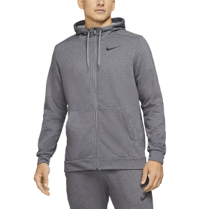 Men's Tennis Shirts and Hoodies Nike DriFIT Classic Hoodie  Charcoal Heather/Black CZ6376071