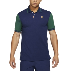 Nike Dri-FIT Heritage Polo - Binary Blue/George Green