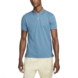 Polo Tenis Hombre Nike DriFIT Heritage Polo  Rift Blue/Cinnabar DA4379415