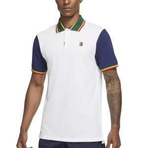 Polo Tenis Hombre Nike DriFIT Heritage Polo  White/Binary Blue DA4379100