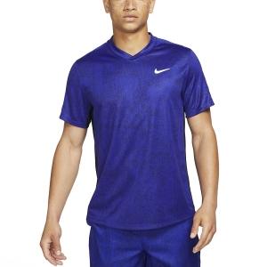 Men's Tennis Shirts Nike DriFIT Print TShirt  Concord/Black/White CV7858471